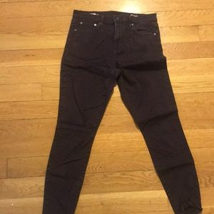 Plum High Waisted Skinny Jeans